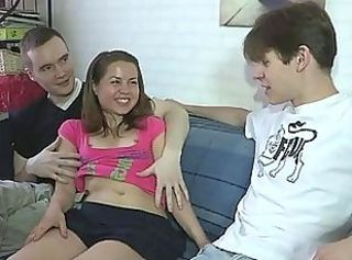 Cash Girlfriend Teen Threesome