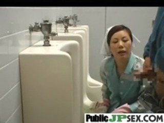 Asian Blowjob Japanese Public Toilet Uniform