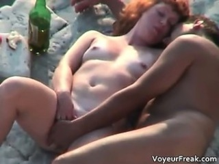Drunk Nudist Outdoor Voyeur Wife