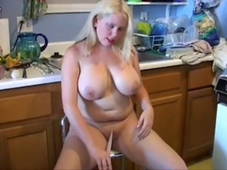 Big Tits Kitchen  Natural Wife