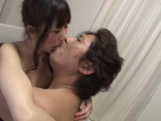 Asian Japanese Kissing Office Old and Young