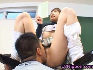 Asian Clothed Licking Student Teen