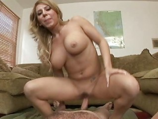 Hot and sexy whore gets a cum load on her face