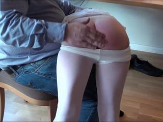 Maleen get spanked by daddy man