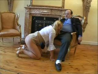 Blonde Blowjob Clothed Daddy Old and Young Teen