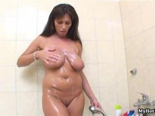 Bathroom Big Tits Chubby Mature Natural