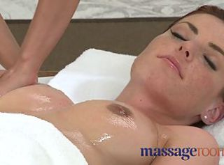Massage Rooms Perfect breasts are oiled and massaged