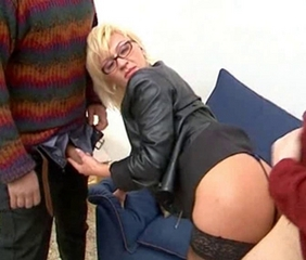 Ass Blonde Clothed European Glasses Handjob Italian  Threesome