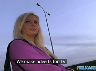 PublicAgent Curvy blonde accepts sex for money offer