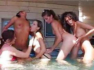 A hot orgy in the hot tub tubes
