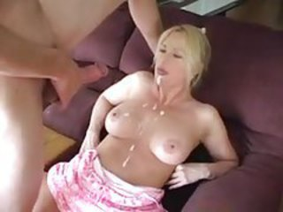 Big facial for a doggy style fucked milf tubes