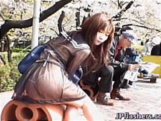 Asian Ass Japanese Outdoor Public Student Teen