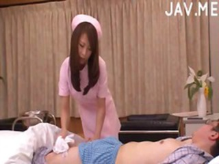 Asian Babe Cute Handjob Japanese Nurse Uniform
