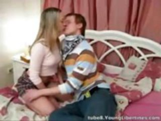 Blonde babe and her boyfriend are doing oral and she gets fucked