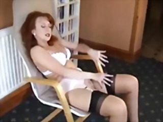 Lingerie  Redhead Solo Stockings