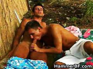 Hardcore outdoor gay bareback fucking part5