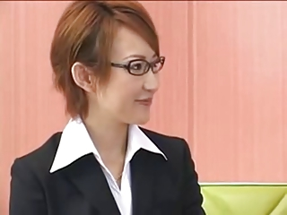 Asian Cute Glasses Japanese  Secretary