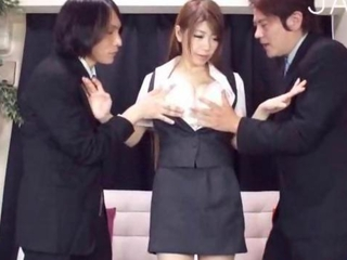 Asian Japanese Secretary Threesome