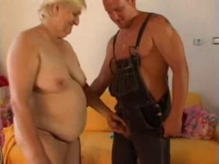 "Fat, Ugly, Blonde Granny Takes Young Cock"" class=""th-mov"