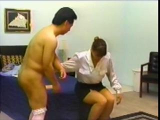 Sissy boy gets spanked and strapon fucked