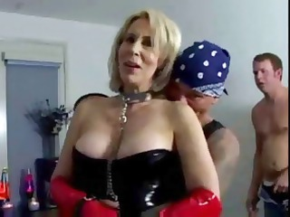 erica lauren is a short-haired blonde milf clad