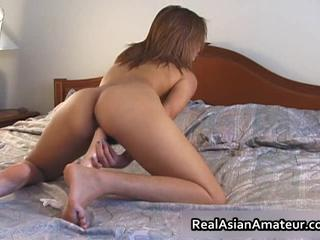 Amateur Asian Ass Masturbating Toy