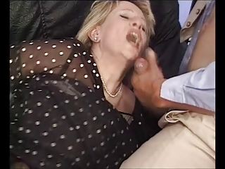 Clothed Cumshot Mature Swallow Threesome