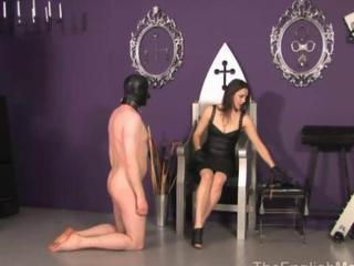 Mistress is canning her useless slave