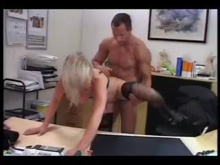 German Secretary makes a splash in her bosses office