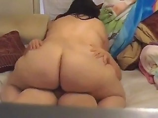 Plumpluv     ;s Fat Huge Butt Riding Dick
