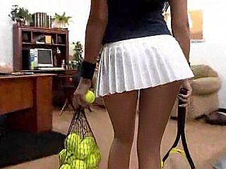 I doubt she could play tennis with those breast and ass