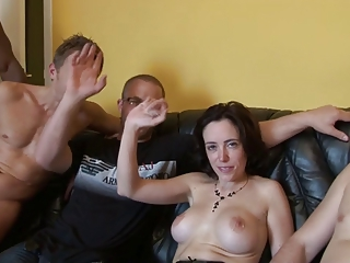 Amateur European French Gangbang