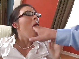 Ashley Blue Sexy Secretary Fucks Involving Stockings