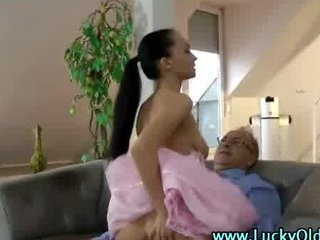 Old Guy Fucks Pretty Girl In Pin...