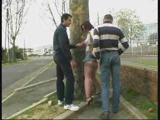 Cash Mature Public Threesome