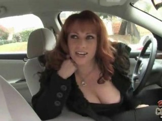 Hot cougar Kylie Ireland playing with a long black shlong
