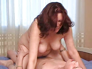Stepmom with saggy confidential & guy have a..