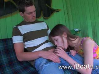 Amateur Blowjob Girlfriend Outdoor Public Teen