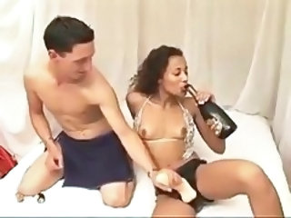 Ebony french femdom strapon for birthday