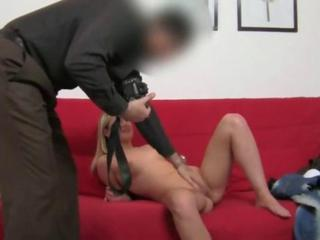 Teenage girl intercourse with fake agent