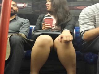 Upskirt during Chin-wag in excess of Train