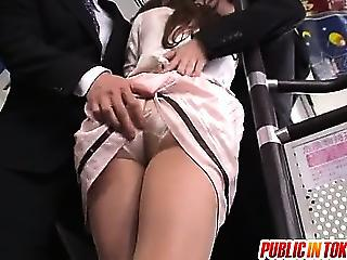 Office Chick Rio Gets Off Of Work And Turns These Guys On In Public
