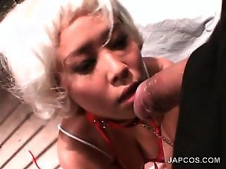 Tied Up Asian Slut Giving Hot Blowjob In Pov Flavour