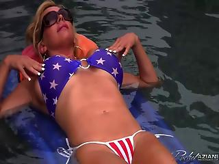 Rachel Aziani Takes Off Her Bikini Underwater Video