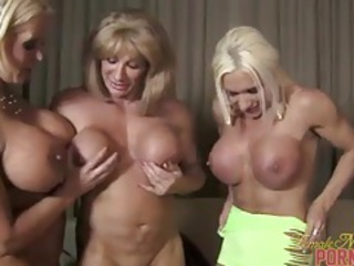 Muscular women threesome 1 of 3 tubes
