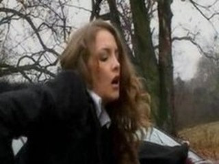 Schoolgirl gets fucked in the woods
