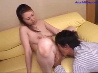 Milf Getting Her Hairy Pussy Licked Sucking Young Fucked...