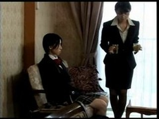 Asian Lesbian  Old and Young Teen Uniform