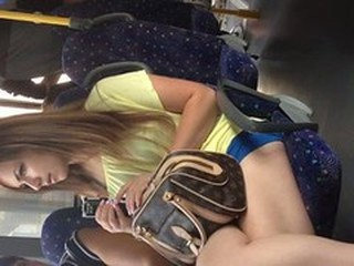 sexy girl in front of me in the bus 1