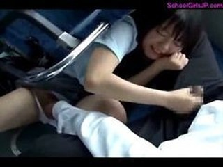 Asian Bus Forced Public Teen